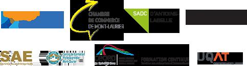 Logos des services aux entreprises dans les Hautes-Laurentides